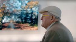 David Hockney at the Richard Gray Gallery last September