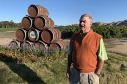 In this Oct. 4, 2019 photo, Eric Wente, chairman of Wente Vineyards, stands in vineyards at his family-run winery, which was founded by his great grandfather in 1883 in Livermore, Calif.