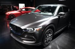 In this April 17, 2019 file photo, the 2019 Mazda CX-5 is shown at the New York Auto Show