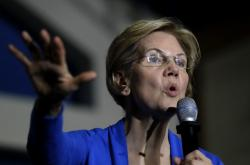 In this Nov. 11, 2019 file photo, Democratic presidential candidate Sen. Elizabeth Warren, D-Mass., addresses an audience during a campaign event in Exeter, N.H.
