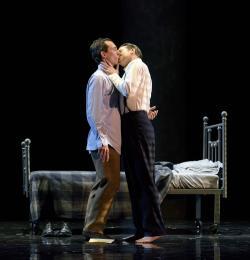 "Jesse Darden and Jesse Blumberg in ""Fellow Travelers"" at the Boston Lyric Opera through November 17. (Photo: Liza Voll)"