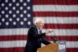 In this Nov. 8, 2019, file photo, Democratic presidential candidate Sen. Bernie Sanders, I-Vt.