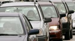 In this May 15, 2008, file photo, motorists sit in a Chicago traffic jam. More than 800 rear-seat passengers who weren't wearing seat belts were killed in 2018 in U.S. traffic crashes, and states aren't making enough progress in getting people to buckle up, the Governors Highway Safety Association says in a report released Monday, Nov. 18, 2019