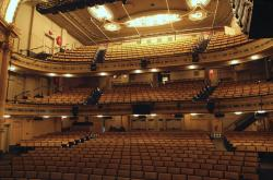 The interior of the 961-seat Hudson Theatre.