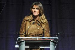 First lady Melania Trump speaks at the B'More Youth Summit.