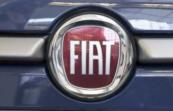 In this Feb. 14, 2019, file photo, the Fiat logo is mounted on a 2019 500 L on display at the 2019 Pittsburgh International Auto Show in Pittsburgh. argainers for the United Auto Workers union and Fiat Chrysler are close to reaching a tentative deal on a new four-year contract, a person briefed on the matter said Saturday, Nov. 30.
