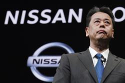 Nissan Chief Executive Makoto Uchida speaks during a press conference in the automaker's headquarters in Yokohama, near Tokyo Monday, Dec. 2, 2019