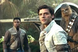 "John Boyega as Finn, left, with Oscar Issac as Poe, right, in the trailer for ""Star Wars: The Rise of Skywalker"" trailer."