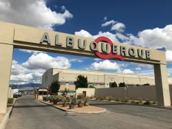 This Oct. 8, 2018, file photo shows the entrance to ABQ Studios in Albuquerque, N.M., where Netflix announced at the studio complex that it chose Albuquerque as a new production hub