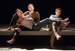"Samuel H. Levine, Kyle Soller and Andrew Burnap in ""The Inheritance,"" currently on Broadway"