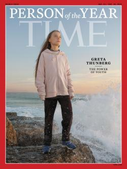 """Greta Thunberg, who has been named Time's youngest """"person of the year"""" on Wednesday, Dec. 11, 2019."""