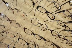 In this Tuesday, June 12, 2012, file photo, eyeglass frames are displayed at Berlin Optical Expressions in Berlin, Vt.