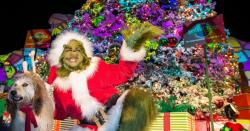 """The Grinch and his dog Max as seen as part of Holidays at Universal Studios"""""""