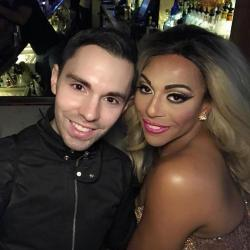 """Project Runway"" contestant Tyler Neasloney, left, with ""RuPaul's Drag Race"" star Shangea."
