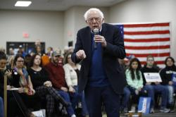 Democratic presidential candidate Sen. Bernie Sanders, I-Vt., speaks during a campaign event, Sunday, Jan. 5, 2020, in Boone, Iowa