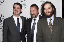Benny Safdie, left, Adam Sandler and Josh Safdie attend the New York Film Critics Circle Awards at TAO Downtown.