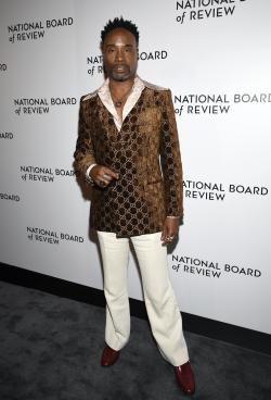Billy Porter attends the National Board of Review Awards gala at Cipriani 42nd Street on Wednesday, Jan. 8, 2020, in New York