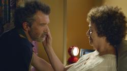 "Antonio Banderas, left, and Julieta Serrano in a scene from ""Pain and Glory."""