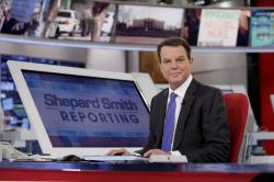 "Fox News Channel chief news anchor Shepard Smith appears on the set of ""Shepard Smith Reporting"" in New York in 2017."