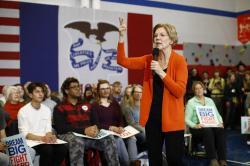 Democratic presidential candidate Sen. Elizabeth Warren, D-Mass., speaks during a campaign event, Sunday, Jan. 12, 2020, in Marshalltown, Iowa