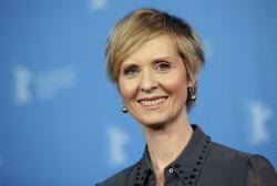 In this Sunday, Feb. 14, 2016, file photo, Actress Cynthia Nixon poses for the photographers during a photo call for the film 'A Quiet Passion' at the 2016 Berlinale Film Festival in Berlin, Germany