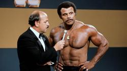 """Mean"" Gene Okerlund interviews Rocky ""Soul Man"" Johnson."
