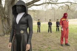 """Regina King in a scene from """"Watchmen,"""""""