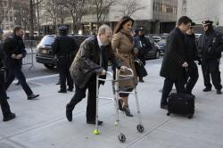 Harvey Weinstein and his attorney Donna Rotunno arrive at a Manhattan courthouse.