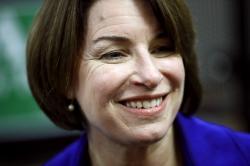Democratic presidential candidate Sen. Amy Klobuchar, D-Minn.
