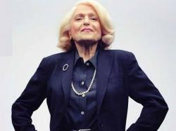 "Edie Windsor in the photo used for the cover of the book, ""A Wild and Precious Life"""