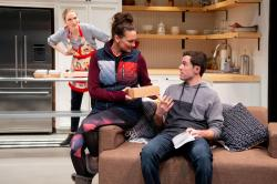 """Deb Martin, Karen Carpenter and Jacob Osborne in """"Admissions"""""""