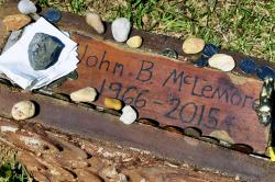 """The grave of John B. McLemore in Green Pond, Ala., who is featured in the serialized podcast """"S-Town."""""""
