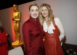 Greta Gerwig, left, and Laura Dern attend the 92nd Academy Awards Nominees Luncheon.