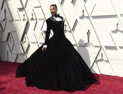 Billy Porter arrives at the Oscars on Feb. 24, 2019.