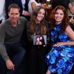 'Will & Grace' stars Eric McCormack and Debra Messing with guest star Bilie Lourd