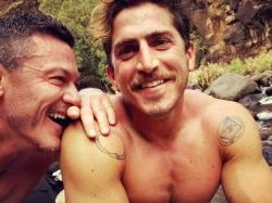Actor Luke Evans, left, with Rafa Olarra, right.