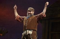 "Yehezkel Lazarov in the national company of ""Fiddler on the Roof,"" in Providence through February 16"