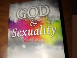 "The cover of the book ""God & Sexuality,"" which was distributed in a LGBT Studies Class at the University of Kentucky"