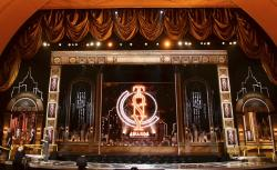 The stage prior to the start of the 73rd annual Tony Awards at Radio City Music Hall in New York.
