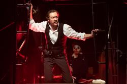 "Alexander Platt in The Gamm Theatre's production of ""Assassins,"" which has closed due to the coronavirus."