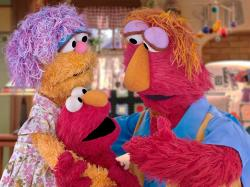 Elmo and his parents Louie and Mae