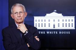In this April 1, 2020, Dr. Anthony Fauci, director of the National Institute of Allergy and Infectious Diseases, appears at the White House, in Washington