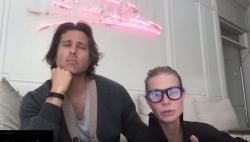 Brad Falchuk and Gwyneth Paltrow in their intimacy video.