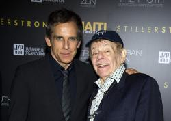 Ben Stiller, left, and his father Jerry Stiller