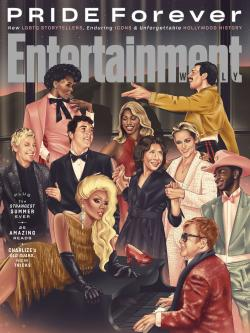 The June cover of Entertainment Weekly, celebrating LGBTQ Pride Month.