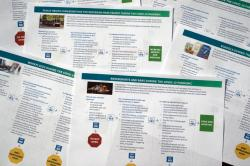 Documents that U.S. health officials have released as part of some long-delayed specific guidance that schools, businesses, and other organizations can use as states reopen from coronavirus shutdowns are photographed Thursday, May 14, 2020