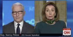 CNN's Anderson Cooper speaks with House Speaker Nancy Pelosi.