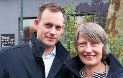 Düsseldorf 2020 lead organizers Götz Fellrath, left, and Silke Krämer