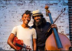 """Ashley Frith and Desmond Bratton in """"Decameron, Providence,"""" produced by The Wilbury Theatre Group and WaterFire Providence; photo by Erin X. Smithers."""