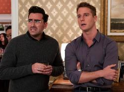 Dan Levy and Jake McDorman in 'Happiest Season'